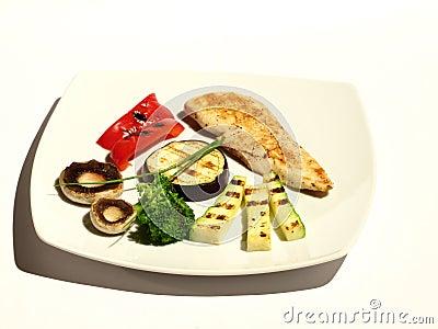 Dinner, veggies and chicken