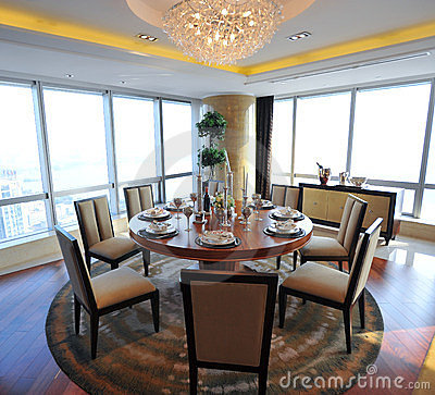 Dinning room in a apartment