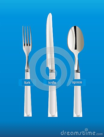 Dinning tools spoon fork knife