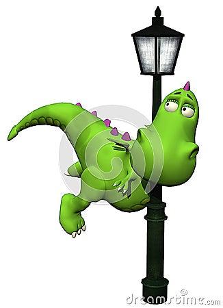 Dino shy baby dragon