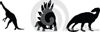 Dino. silhouettes