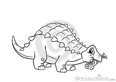 Dinosaur Ankylosaurus Coloring