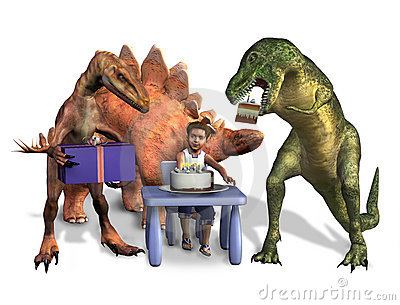 Dinosaur Birthday - with clipping path