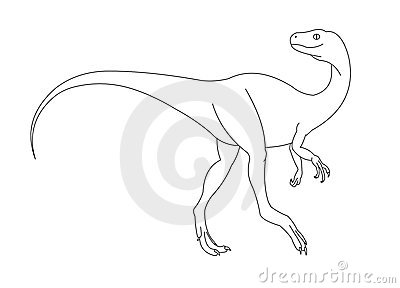 Dinosaur black and white