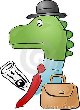 Dinosaur businessman