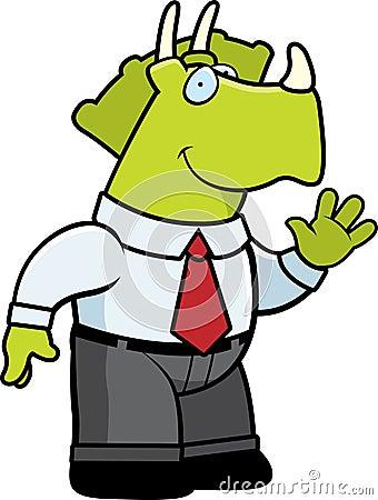 Dinosaur Businessman