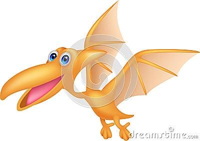 Dinosaur cartoon flying