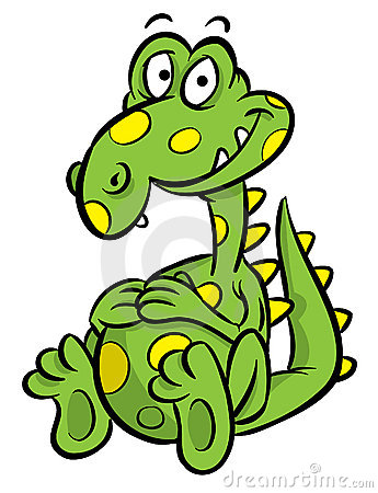 Dinosaur cartoon illustration