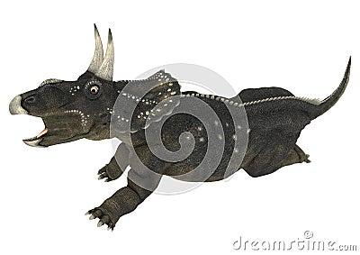 Dinosaur Diceratops Stock Photo