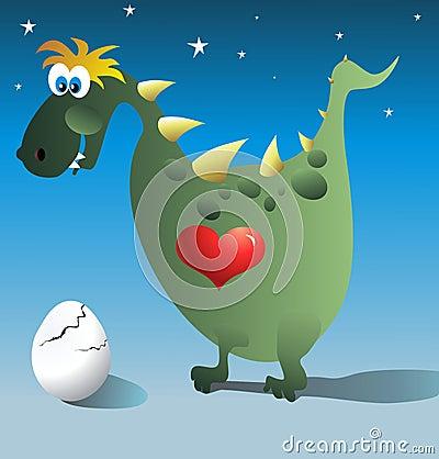 Dinosaur and egg