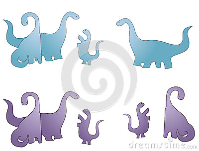Dinosaur family cartoon