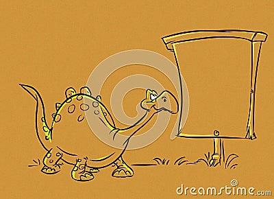 Dinosaur form ads