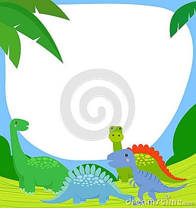 Dinosaur and frame