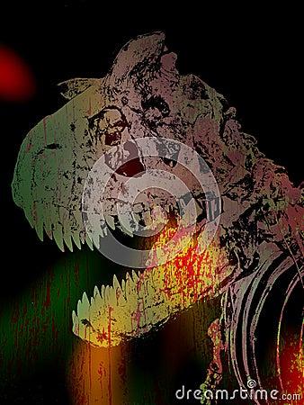 Dinosaur Grunge Background