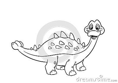 Dinosaur Pinacosaurus  coloring pages