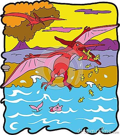 Dinosaur Pteranodonte