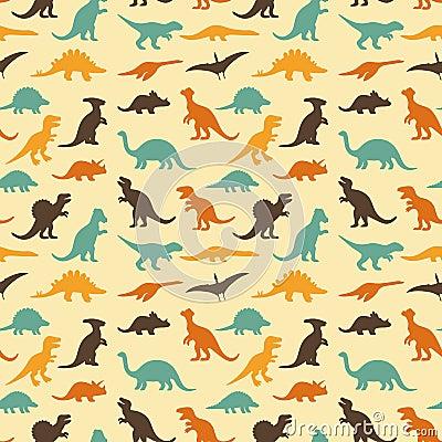 Free Dinosaur Retro Pattern Stock Photography - 47544312