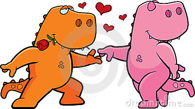 Dinosaur Romance Stock Photo - Image: 13163270