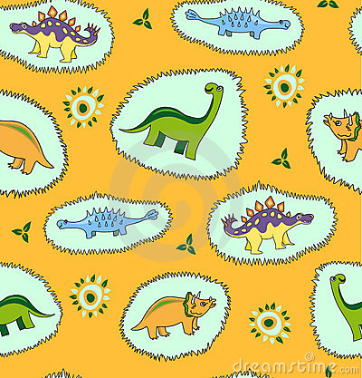 Dinosaur seamless pattern  background
