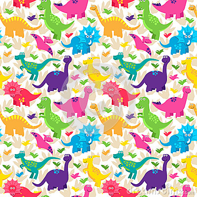 Free Dinosaur Seamless Tileable Vector Background Pattern Stock Photo - 50904960