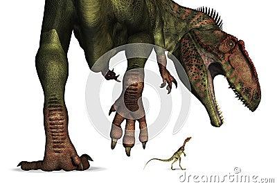 Dinosaur Size Comparison - Huge to Tiny