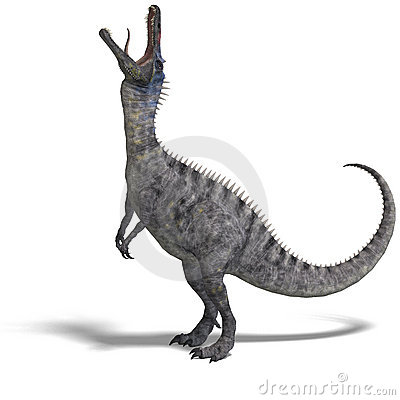 Dinosaur Suchominus. 3D rendering with clipping