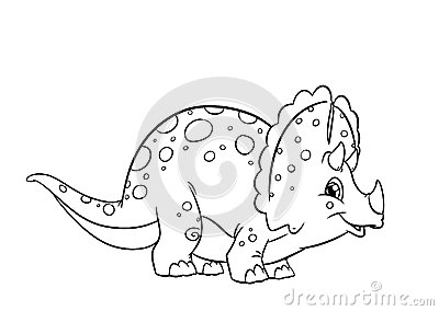Dinosaur Triceratops coloring pages