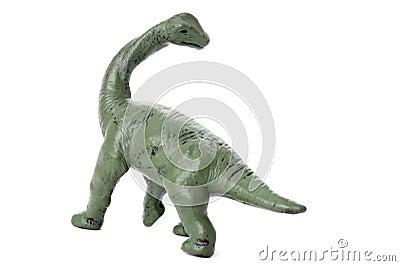 Dinosaur on white