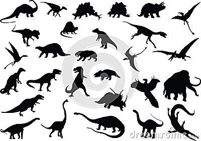 Dinosauri di vettore