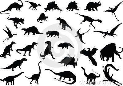 Dinosaurios del vector