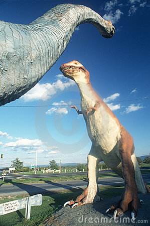 Dinosaurs as roadside attraction Editorial Photography