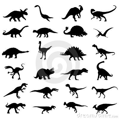 Dinosaurs set vector