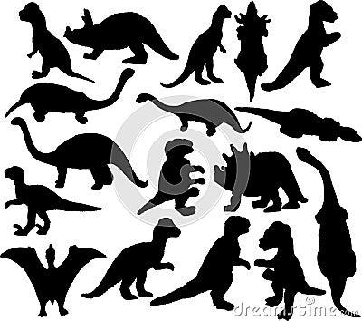 Dinosaurus silhouette