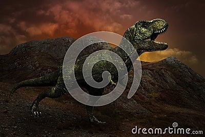 Dinosaurus t -t-rex