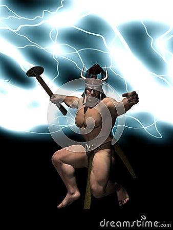 Dio di Thor di tuono