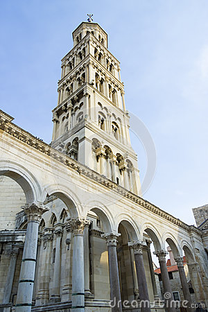 Free Diocletian Palace Ruins And Cathedral Bell Tower, Split, Croatia Stock Images - 34998404