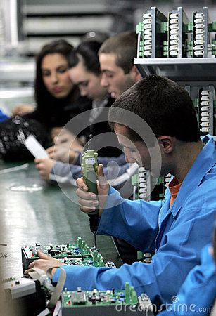 Diode Factory Workers Editorial Image