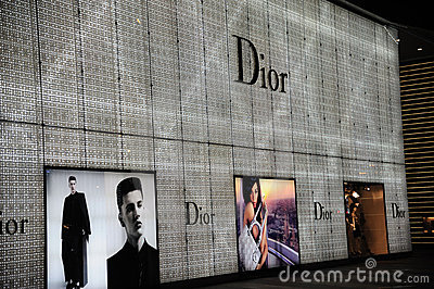 Dior  Fashion Boutique Editorial Stock Image