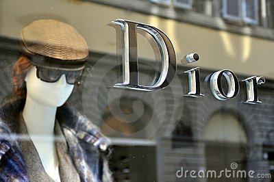 Dior fashion store in Italy  Editorial Stock Photo