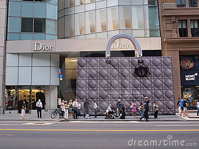 Dior Handbag Editorial Stock Photo