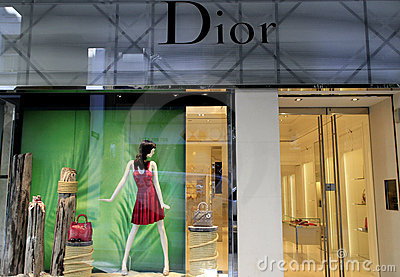 Dior luxury boutique Editorial Photography
