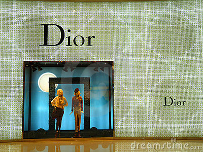 Dior - Luxury Fashion Brand Editorial Stock Image