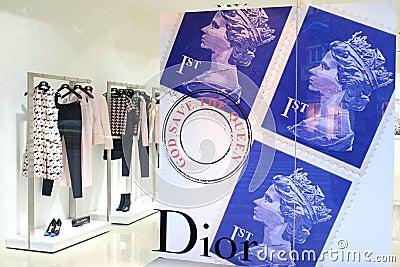 Dior - luxury fashion brand Editorial Stock Photo