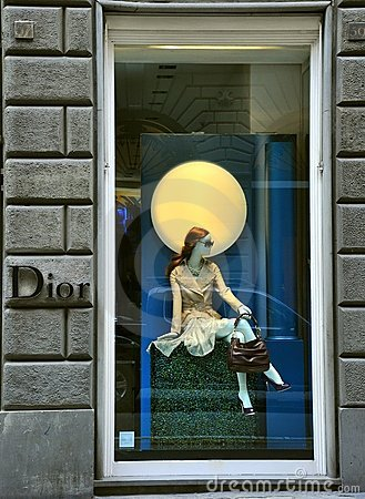 Dior luxury fashion shop in Italy  Editorial Stock Image