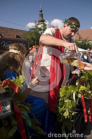 Dios de la mitología del Bacchus del vino Foto de archivo editorial
