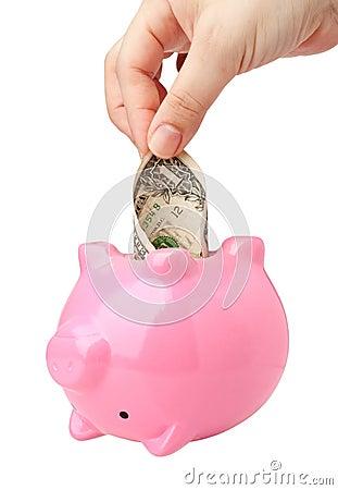 Dip into savings