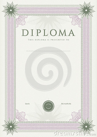 Diploma / Сertificate award template. Pattern