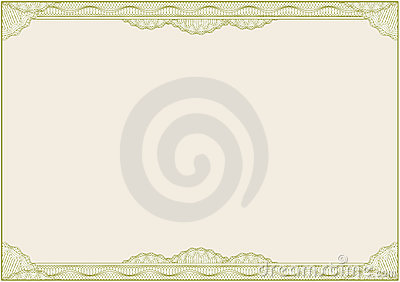 Diploma of certificaat/grens/A4/vector