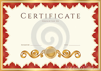 Diploma / Certificate background with red border