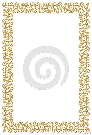 Diploma or Certificate Golden Frame